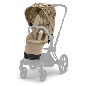 SEAT PACK PER PRIAM - SIMPLY FLOWERS - NUDE BEIGE