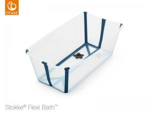 FLEXI BATH - VASCHETTA DA BAGNO PIEGHEVOLE - TRANSPARENT BLUE