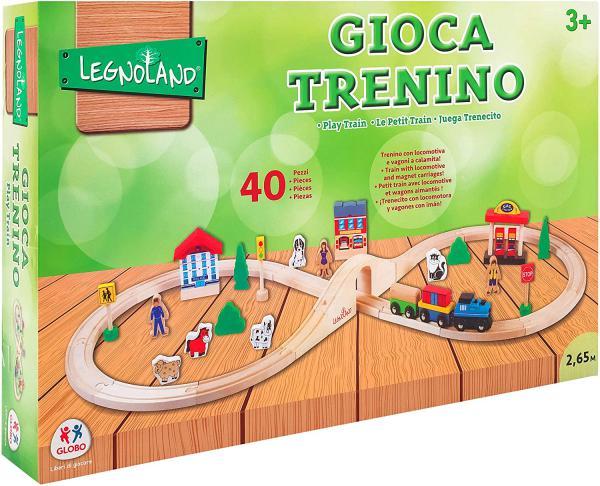 PISTA TRENO LEGNO 40PZ C ACC - GLO36573 - Img 3