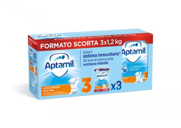 Latte Crescita Aptamil 3 - 3X1200gr - MIL143031 - Img 1