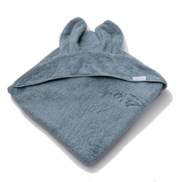 Bamboom - Asciugamano neonato con cappuccio Terry XL - Blu - BAM2010007 - Img 1