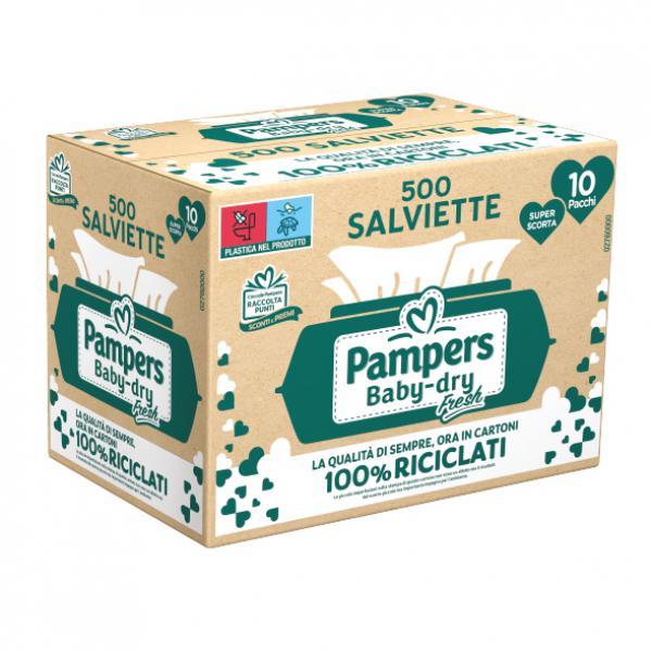SALVIETTE BABY DRY FRESH GIGAPACK - 500PZ - FAT2760000 - Img 1