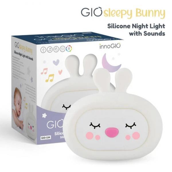 GIOsleepy Bunny - LUCE NOTTURNA IN SILICONE CON SUONI - GRFGIO-134 - Img 1