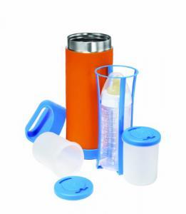 Portabiberon Termico BabyFood - Arancione e Blu - QS0130008 - Img 3