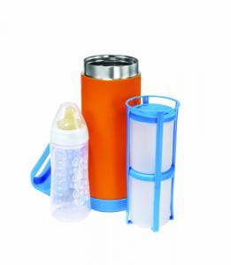 Portabiberon Termico BabyFood - Arancione e Blu - QS0130008 - Img 2