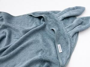 Bamboom - Asciugamano neonato con cappuccio Terry XL - Blu - BAM2010007 - Img 2